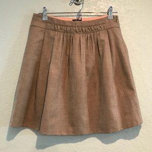 J. Crew wool blend lined skirt
